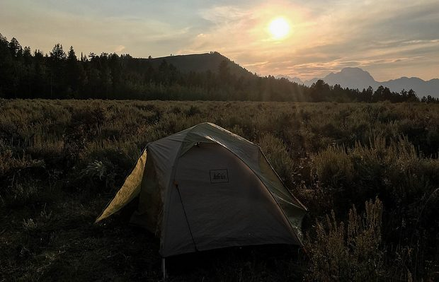 Campsite in Bridger-Teton National Forest