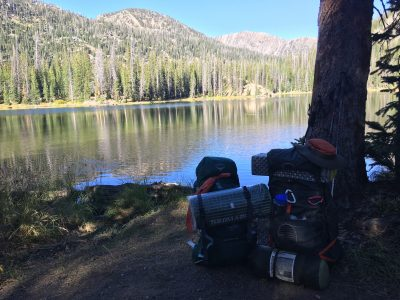Backpacks at Gold Lake